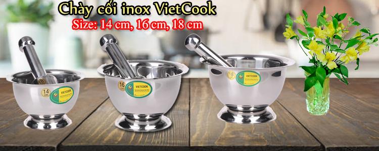 Chày cối Inox VietCook