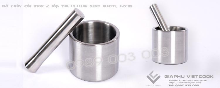 Bộ chày cối inox 2 lớp VIETCOOK